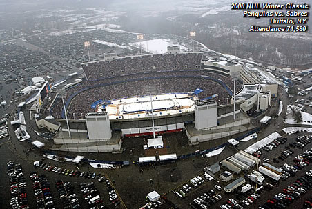 2008 NHL Winter Classic Penguins vs. Sabres Buffalo, Ny Attendance 74,580