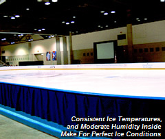Consistent Ice Temperatures and Moderate Humidity Inside Make for Perfect Ice Conditions
