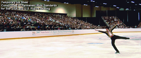 Temporary Ice Sheet Constructed to Permanent Rink Standards for Star USA and U.S. Figure Skating