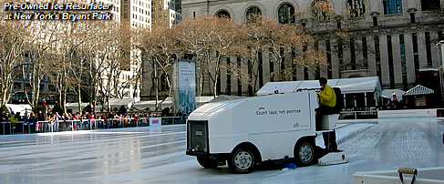 Pre-Owned Ice Resurfacer at New York's Bryant Park